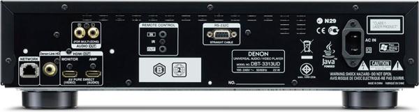 Denon DBT-3313UD - задняя панель