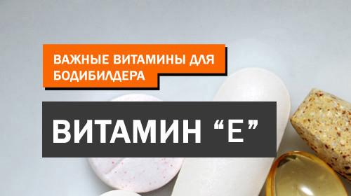 Важные витамины для бодибилдера — Витамин Е