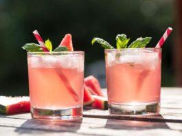 Пикантный арбузный коктейль с виски