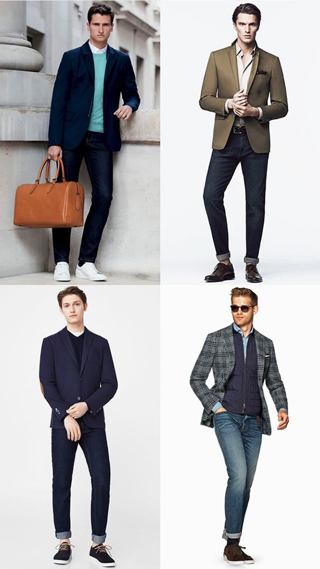 Сочетание: Пиджак и джинсы