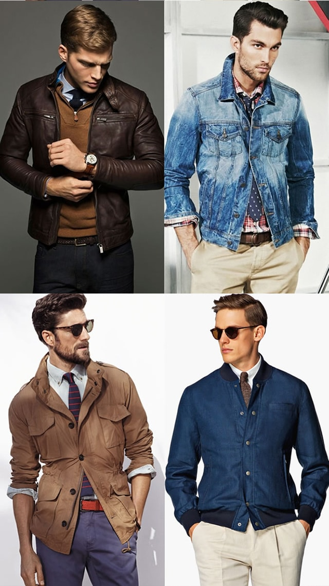 Сочетание: Рубашка, галстук и верхняя одежда